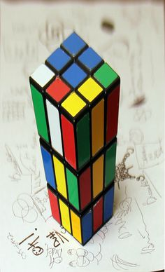 Anamorphic Rubik'x cube (ready to print).   Via http://www.thisiscolossal.com/2012/11/anamorphic-illusions-by-brasspup/