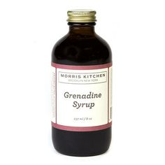Morris Kitchen | Grenadine Syrup: cane sugar, filtered water, pomegranate juice concentrate, tart cherry juice concentrate, orange flower water, vanilla bean puree