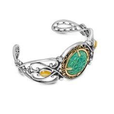 Heirloom Grace Green Turquoise Cuff Bracelet