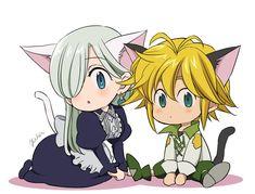 Neko Melizabeth so cute ~(^з^)-♡ Elizabeth Seven Deadly Sins, Seven Deadly Sins Anime, 7 Deadly Sins, Anime Chibi, Kawaii Anime, Meliodas And Elizabeth, Seven Deady Sins, 7 Sins, Anime Love Couple