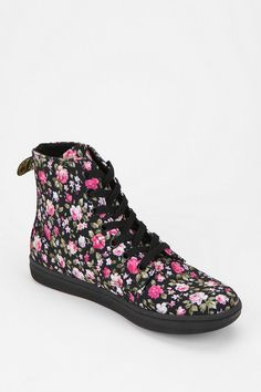Dr. Martens Hackney Floral Canvas High-Top Sneaker - oh my goodness