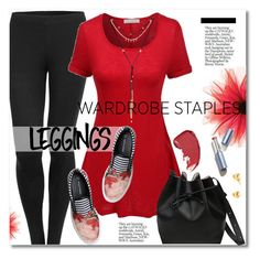 """le3no.com"" by svijetlana ❤ liked on Polyvore featuring LE3NO, Mother of Pearl, Leggings, polyvoreeditorial, WardrobeStaples and le3no"