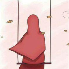 . Muslim Family, Muslim Girls, Muslim Couples, Anime Muslim, Muslim Hijab, Hijab Dp, Wallpaper Iphone Quotes Backgrounds, Islamic Cartoon, Hijab Cartoon
