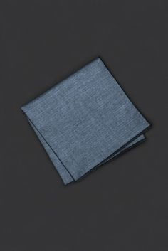 Dark Blue Herringbone Pocket Square