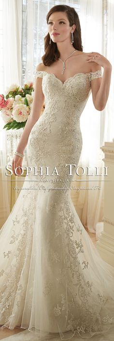 The Sophia Tolli Spring 2016 Wedding Dress Collection - Style No. Y11634 - Loraina #laceweddingdress