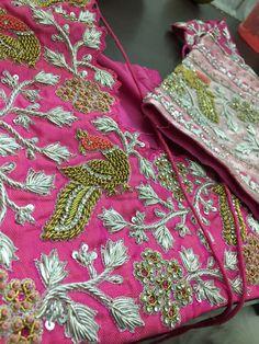 New Embroidery Designs Fashion Ideas Texture 50 Ideas Best Blouse Designs, Dress Neck Designs, Bridal Blouse Designs, Sleeve Designs, New Embroidery Designs, Couture Embroidery, Hand Embroidery, Hand Work Blouse Design, Stylish Blouse Design