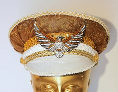 Hey, I found this really awesome Etsy listing at https://www.etsy.com/listing/497557706/diamond-eagle-festival-captain-hat-by