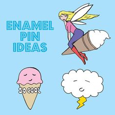 It's a while off but I would LOVE to make an enamel pin. These are previous designs that I think could work well (with tweaks) but I'm not sure which one to choose. Which one would you pick? #enamel #enamelpin #pins #pingame #design #idea #cloud #icecream #fairy #cool #kitsch #wip #cute #cuteart #kawaii by ladykerrydesign