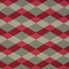 Beach Towel in Red Coral | Mokum #fabric #cotton #geometric #red #gray