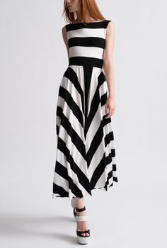 96624764d68b5 Black and White Mod Stripe Boat Neck 3/4 Dress Boutique Stores, Girly  Outfits