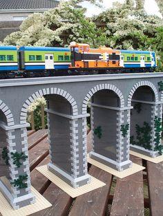Lego on a viaduct