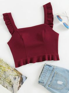 Shop Ruffle Strap And Hem Bustier Top online. SheIn offers Ruffle Strap And Hem Bustier Top & more to fit your fashionable needs.