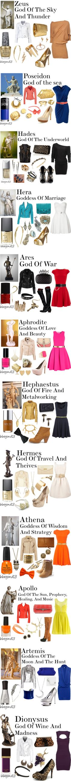 """Greek gods and goddesses"" by bbeyond13 ❤ liked on Polyvore"