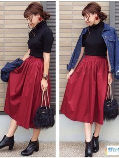 こんばんは お気に入りのUNIQLOのボルドーのスカート ご覧下さってありがとうございま