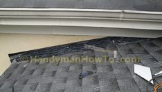 The new porch roof installation details are illustrated with the stucco apron/headwall flashing and counter flashing. A section of rotted soffit and fascia board are also replaced. Fascia Board, Roof Flashing, Stucco Walls, Porch Roof, Roof Installation, Counter, Detail