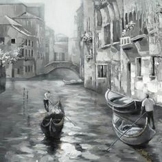 Old Venice   Raised Texture Canvas   Canvas   Canvas Transfer   Hand-Painted   Wall Decor   Art   Pictures   Pictures Frames and More   Winnipeg   Manitoba   MB   Canada