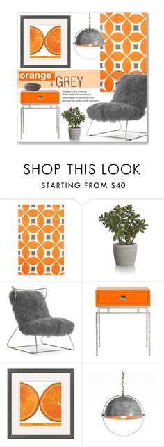 """Orange & Grey"" by leanne-mcclean ❤ liked on Polyvore featuring interior, interiors, interior design, home, home decor, interior decorating, Crate and Barrel, Mitchell Gold + Bob Williams and West Elm"
