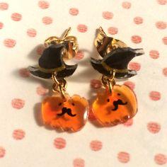 [再販x5] ヒゲかぼちゃのゆらゆらピアス