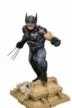 Kotobukiya - Marvel Comics X-Force Fine Art Statue 1/6 Wolverine 27 cm by Kotobukiya. $169.95. Kotobukiya proudly presents the next character in their line of Fine Art Statues based on characters from Marvel Comics: X-Force Wolverine!With an all-new, highly detailed sculpt by Erick Sosa, Wolverine is ready to take his place as a member of the X-Force team.Standing with one foot on a short wall that's been smashed to rubble, Wolverine stands with his claws extended, ready to...