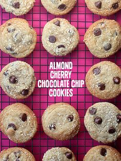 Almond Cherry Chocolate Chip Cookies
