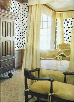 Nancy Braithwaite - polkadot walls - actually kind of cool