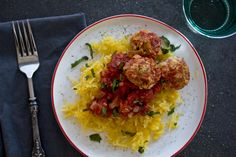 """spaghetti squash + lentil """"meatballs"""" in a spicy arrabiata sauce — whats cooking good looking"""