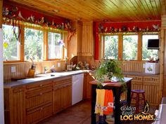 Golden Eagle Log and Timber Homes : Photo Gallery Log Cabin Homes, Log Cabins, Timber House, Home Pictures, Home Photo, Kitchen Ideas, Photo Galleries, Cottage, Houses