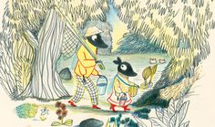 Illustration from 'Poka and Mia' by Kitty Crowther