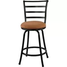 Mainstays Metal Swivel Counter Stool 24'', Set of 3, Black - Walmart.com