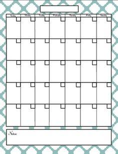 planning binder- calendar