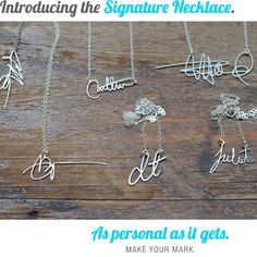 Custom Signature Necklaces from http://www.brevityjewelry.com.