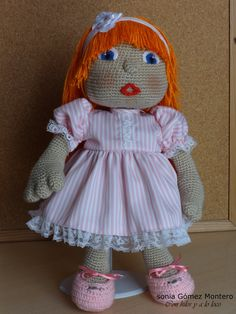 Muñeca Amigurumi grande - Translate to English! Crochet Dolls Free Patterns, Doll Patterns, Crochet Toys, Crochet Stitches, Crochet Baby, Dolly World, Boy Doll, Learn To Crochet, Amigurumi Doll