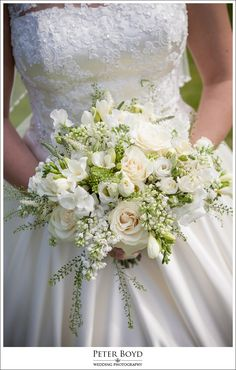 Such fresh looking flowers in this bridal bouquet. Image by Peter Boyd