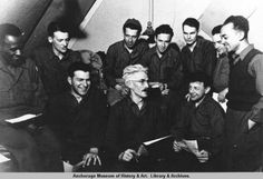 Dashiell Hammett poses with his colleagues during his WW II service. Must credit: Alaska Museum Staff photo. Dashiell Hammett, Raymond Chandler, John Grisham, University Of Texas, Children's Literature, Agatha Christie, Troops, Alaska, Childrens Books