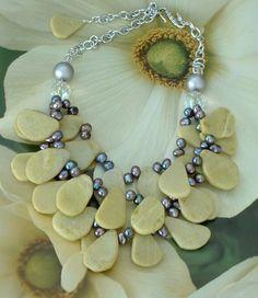 Chunky Freeform Slab Bead Jasper Necklace #187 | GracefulDesigns - Jewelry on ArtFire