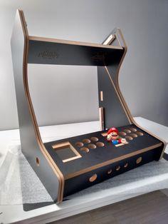 kit maquina bartop arcade raspberry pi Pinball, Arcade Bartop, Diy Arcade Cabinet, Retro Arcade Games, Game Room Decor, Retro Gamer, Arcade Machine, Concrete Countertops, Vintage Diy