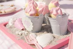 Beach baby birthday party. I really want to make a sand cake now!