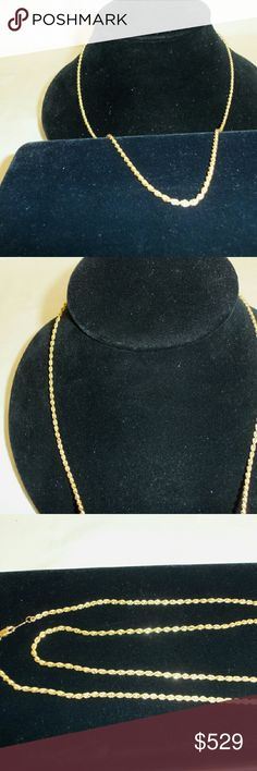 """24"""" 10.3gram 14k Yellow Gold Rope Chain 10.3gram 14k Yellow Gold Rope Chain 24"""" Jewelry Necklaces"""