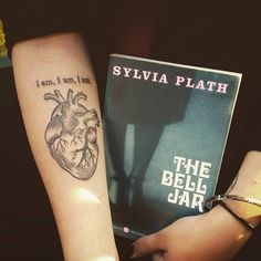 The Bell Jar   Sylvia Plath tattoo done by Chris Heagney at 2Tone Tattoos in Montgomery, NY.