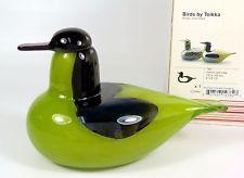 NICE Oiva Toikka Tavi Comon Teal Male Bird Nuutajarvi Iittala Art Glass w Box