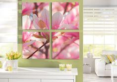 Blütenzauber pur im Mehrteilerformat: http://www.cewe-fotobuch.at/produkte/wanddekoration/ #diy #wanddeko #flowers