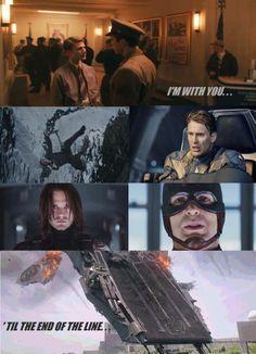 Bucky Barnes Captain America The Winter Soldier Sebastian Stan Steve Rodgers
