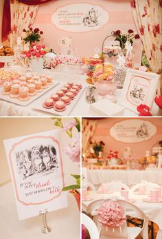Mad Hatter Tea Party // Hostess with the Mostess® Alice in wonderland birthday party ideas Mad Hatter Party, Mad Hatter Tea, Mad Hatters, Alice And Wonderland Quotes, Alice In Wonderland Tea Party, Fiestas Party, Tea Party Birthday, Birthday Ideas, Tea Parties