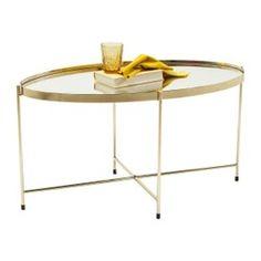 Table basse Miami ovale laiton 83x40cm Kare Design acier chromé, miroir 40 cm 83 cm 40 cmHauteur : 40 cmLargeur : 40 cmLongueur : 83 cmMateriaux : acier chromé, miroirPoids : 9.9 kgTaille : 83 cm