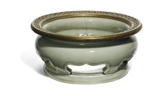 A 'LONGQUAN' CELADON STAND MING DYNASTY, 15TH CENTURY Fine Porcelain, Porcelain Ceramics, Celadon, Chinese Ceramics, Tea Bowls, 15th Century, Old Things, Auction, China China