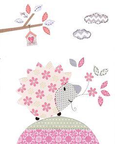 Elephant and Owl Nursery Art - Pink and Gray Nursery Art - Baby Girl Nursery - Owl Decor - Elephant Nursery Pictures - Kids Wall Art Print Owl Nursery Decor, Elephant Nursery, Baby Decor, Nursery Art, Girl Nursery, Girl Room, Room Decor, Baby Wall Art, Art Wall Kids