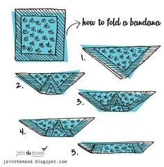 For bandana hairstyles. How to fold a bandana