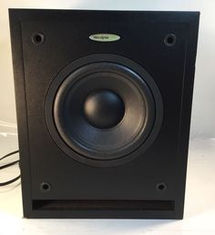 Velodyne CHT-8 130 Watts Powered Subwoofer, Level & Crossover Controls, Heavy!! #Velodyne Subwoofer Box, Powered Subwoofer, Home Theater Subwoofer, Crossover, Log Projects, Audio Crossover