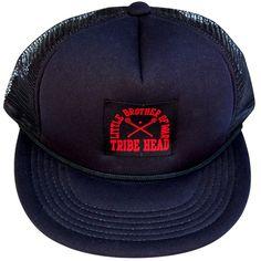Little Brother of War Lacrosse Woven Label Trucker Hat
