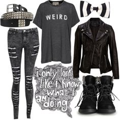 """•weird•"" by alexandria-ann5er on Polyvore"